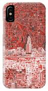 Cleveland Skyline Abstract 10 IPhone Case