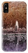 Cleveland Skyline Abstract 2 IPhone Case