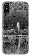 Cleveland Skyline Abstract 3 IPhone Case