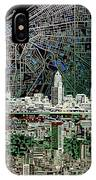 Cleveland Skyline Abstract 4 IPhone Case