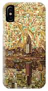 Cleveland Skyline Abstract 6 IPhone Case