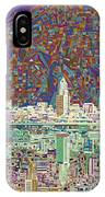 Cleveland Skyline Abstract 8 IPhone Case