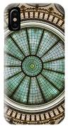 Cleveland Trust Rotunda Building Ceiling IPhone Case