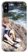 Climbing Over Rapids IPhone Case