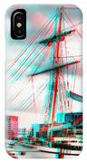 Clipper City - Use Red-cyan 3d Glasses IPhone Case