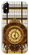 Clock Dorsay Museum IPhone Case