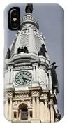 Clock Tower City Hall - Philadelphia IPhone Case