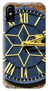 Clock With Gold Hands. IPhone Case