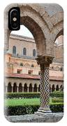 Cloister Of The Abbey Of Monreale. IPhone Case
