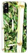 Close Up Big Fresh Bamboo IPhone Case