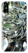 Close-up Of Glass Chambered Nautilus IPhone Case