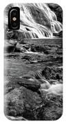 Close Up Of Reedy Falls In South Carolina B W IPhone Case