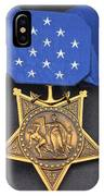 Close-up Of The Medal Of Honor Award IPhone Case
