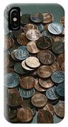 Close View Of United States Coins IPhone Case