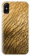 Closeup Of An African Elephant IPhone Case