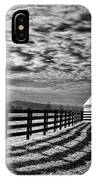 Clouds Over The Farm IPhone Case