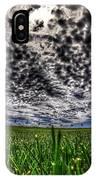 Cloudy Sky's Grassy Field IPhone Case