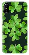 Clover Print IPhone Case