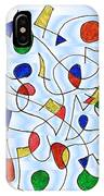 Clown Memory Cells Blue IPhone Case