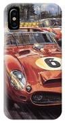 Cma 051 1962 Le Mans Ferrari 330 Driver Phil Hill Roy Rob IPhone Case
