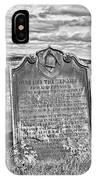 Coast - Whitby Freemason Grave IPhone Case