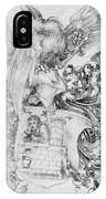 Coat Of Arms With Open Man Behind IPhone Case