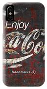 Coca Cola Grunge Sign IPhone Case