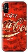 Coca Cola Square Soft Grunge IPhone Case