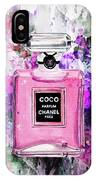 Coco Chanel Parfume Pink IPhone Case