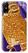 Coco The Burrowing Owl In Living Desert Zoo And Gardens In Palm Desert-california IPhone Case