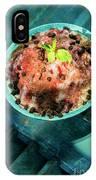 Coconut Milk Sorbet With Strawberry Sauce Vanilla Ice Cream IPhone Case