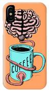 Coffee For The Brain Funny Illustration IPhone X Case