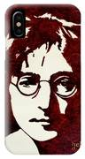 Coffee Painting John Lennon IPhone Case