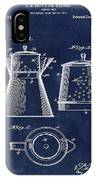 Coffee Pot Patent 1916 Blue IPhone Case