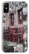 Coffee Shop In Santorini IPhone Case