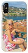 Coimbra Cityscape Woman IPhone Case