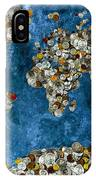 Coins World Map IPhone Case