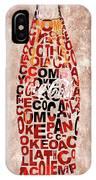Coke Typography IPhone Case