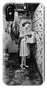 Cold Storage Room, C1940 IPhone Case