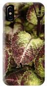 Coleus Plant IPhone X Case