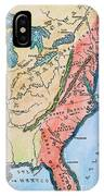 Colonial America Map IPhone Case