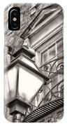 Colonial Lamp And Window Bw IPhone Case