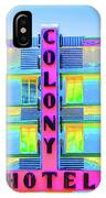 Colony Hotel IPhone Case