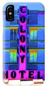 Colony Hotel Palm IPhone Case