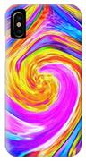 Colored Lines And Curls IPhone Case