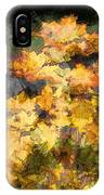 Colored Maple Leaves IPhone Case