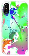 Colored Splashes On A Blue Background IPhone Case