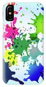 Colored Splashes On A Very Beautiful Blue Background IPhone Case