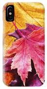 Colorful Autumn Leaves Closeup IPhone Case
