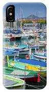 Colorful Boats Docked In Nice Marina, France IPhone Case